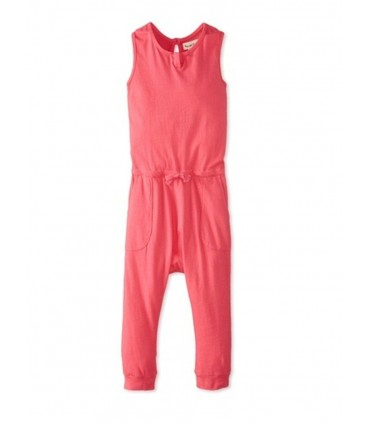 Girls pink romper Peas and Queues