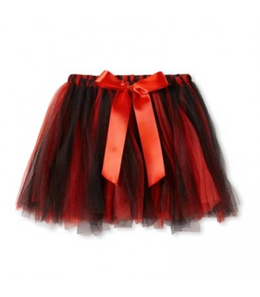 Tutú negro y rojo con lazo
