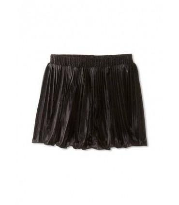 Falda negra plisada American Apparel