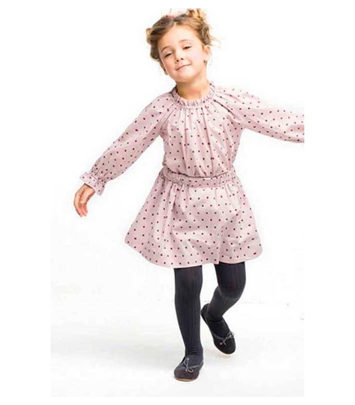 Conjunto niña camisa Frida y falda goma estrellas de Nueces Kids