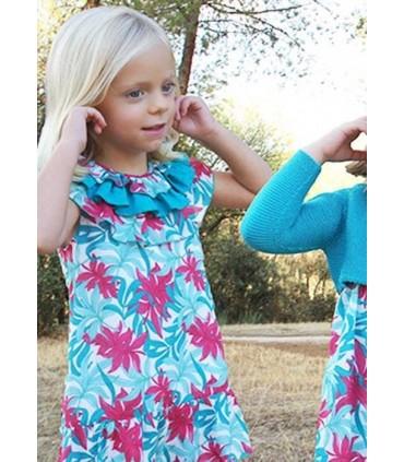 Robe petite fille i imprimée en fleurs Ancar