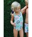Bañador niña Ancar estampado fondo blanco tirante cuello de Ancar