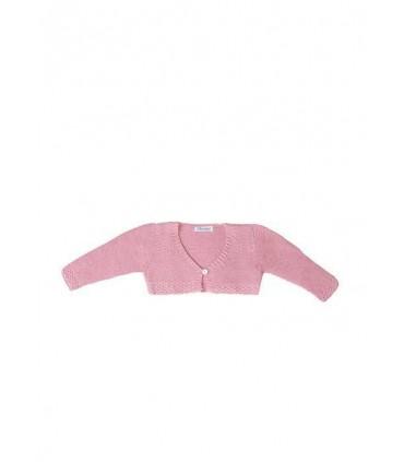 Gilet tricoté rose bébé fille Ancar