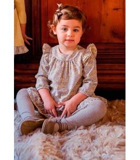 Vestido niña tejido amarillo con cachemir de Rochy