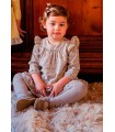 Robe jaune cachemir tricotée petite fille Rochy