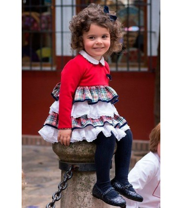 MARTA Y PAULA Tartan dress for toddlers