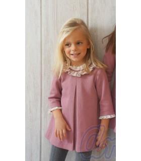 Vestido niña pequeña en rosa de Ancar