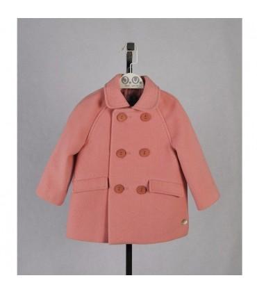 Abrigo muflón rosa de José Varón