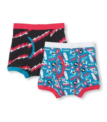 Pack 2 Boxers garcon patineur