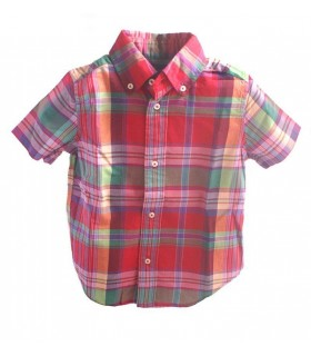 Boys Red Plaid Shirt by Ralph Lauren