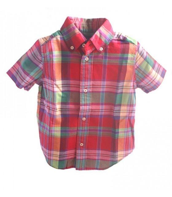 d0ddb0af86 Boys Red Plaid Shirt by Ralph...