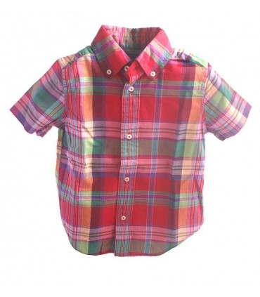 Boys Red Plaid Shirt by Ralph Lauren