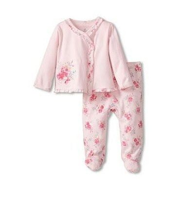 Baby pink set 100% cotton Absorba