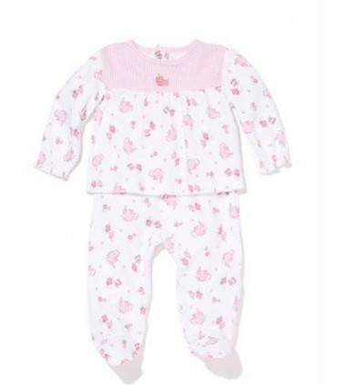 Baby girl pink set 100% cotton Absorba