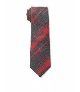 Red and grey Boys tie