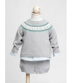 Fina Ejerique Grey baby shorts