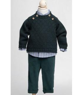 Pantalon vert Fina Ejerique