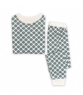 Jasper Cotton Two-Piece Blue PJ OM Home