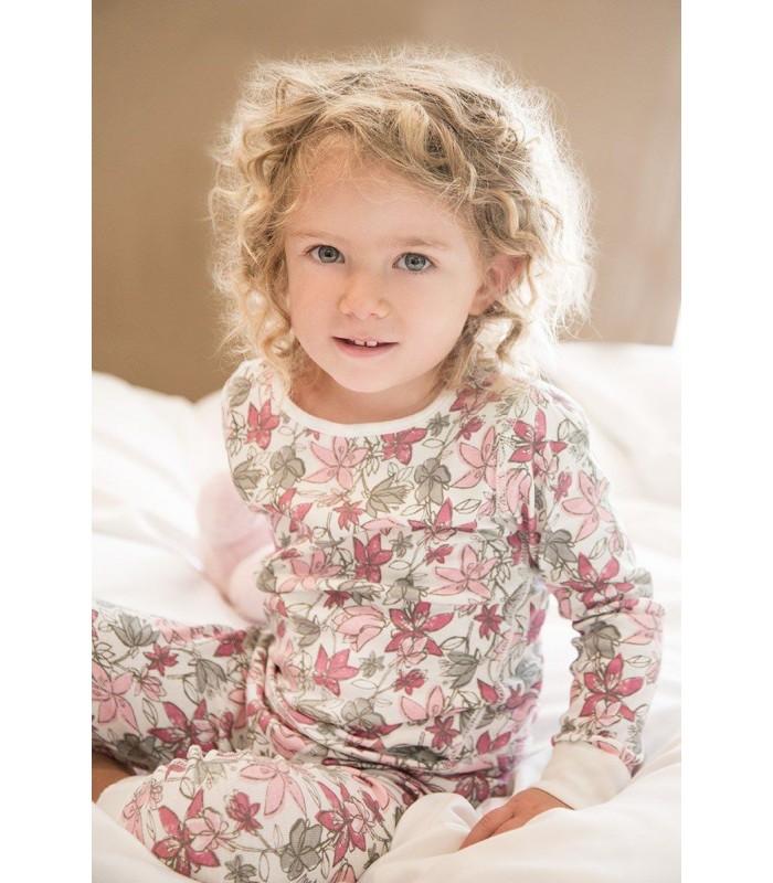 Pijama niña lilas algodón orgánico Skylar Luna