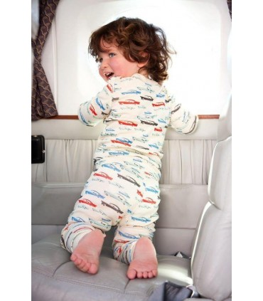 Skylar Luna organic cotton Cars pajamas