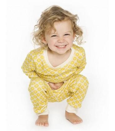 Pyjama 100% coton OM Home jaune
