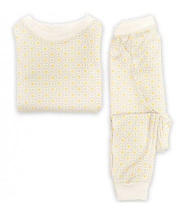 Jasper Cotton Two-Piece Cream PJ OM Home