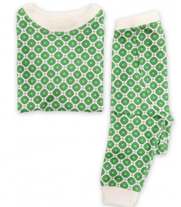 Pyjama 100% coton OM Home vert