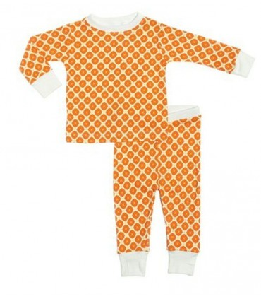 Jasper Cotton Two-Piece Orange PJ OM Home