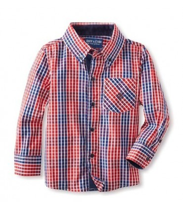 Andy & Evan Open Check Shirt (Red)