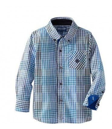 Andy & Evan Open Check Shirt (Blue)