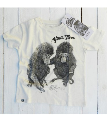 Camiseta unisex 100% algodón orgánico monitos babuinos de Lion of Leisure