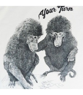 Camiseta unisex 100% algodón orgánico monitos babuinos de Lion of Leisure