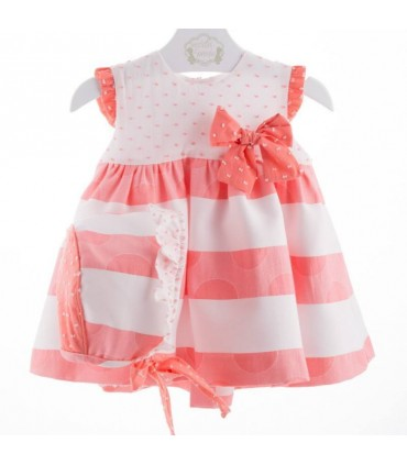 Baby dress with bonett Marta Y Paula