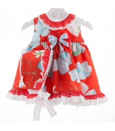 Short baby dress with bonett Marta y Paula