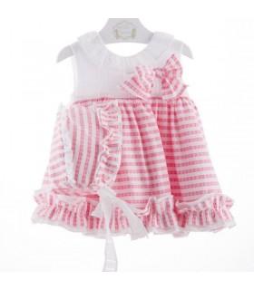 """Robe bebe fille avec capote Marta Y Paula """"FRAMBUESA"""""""