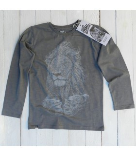 Camiseta manga larga unisex 100% algodón orgánico monitos babuinos de Lion of Leisure