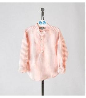 Camisa niño a rayas naranjas José Varón