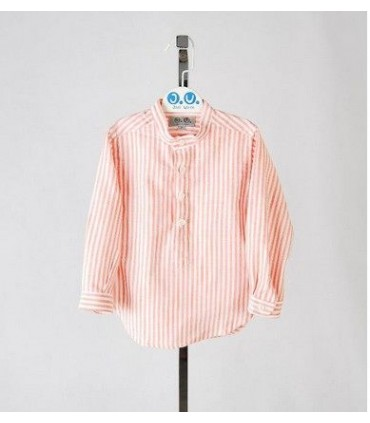 Orange stripped shirt for boys Jose Varon