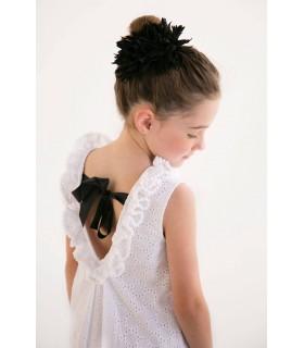 Robe SARA ouverte au dos et noeud Nueces Kids