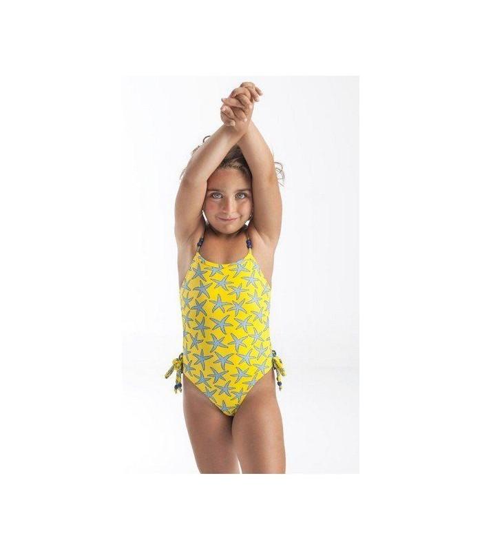 Bañador niña estrellas amarillo José Varón