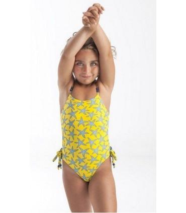 Maillot jaune étoiles petite fille Jose Varón