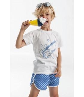 Ensemble de bain petit garçon: tee-shirt et maillot bleu Jose Varón