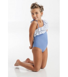 Blue stars swimming-suit for girls Jose Varon