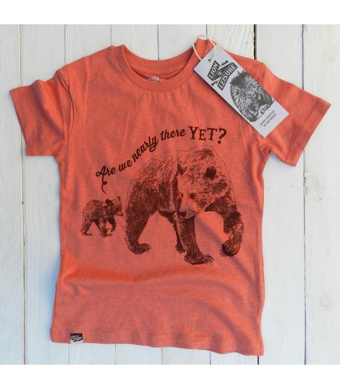 Camiseta unisex 100% algodón orgánico Osos de Lion of Leisure