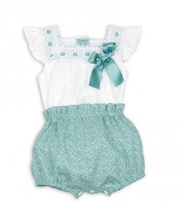 Ensemble vert bébé fille Liberty Rochy