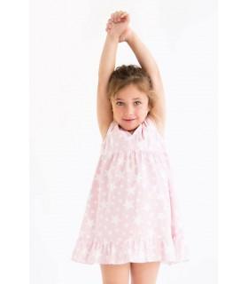 Chemise de Nuit rose avec des étoiles Nueces Kids