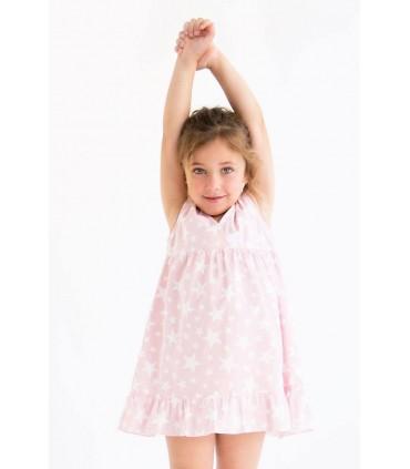 Camisón rosa estrellas niña de NUECES KIDS