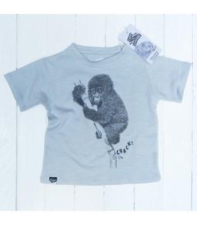 Camiseta unisex 100% algodón orgánico bebe chimpancé  de Lion of Leisure