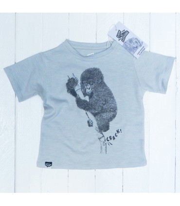 Monkey´s baby T-shirt Lion of Leisure