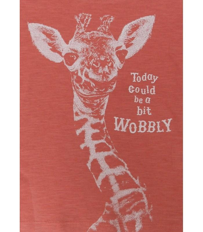 Camiseta unisex 100% algodón orgánico bebe jirafa de Lion of Leisure